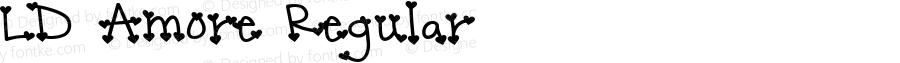 LD Amore Regular Macromedia Fontographer 4.1 29/01/01