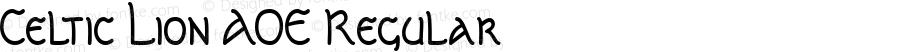 Celtic Lion AOE Regular Macromedia Fontographer 4.1.2 1/8/01