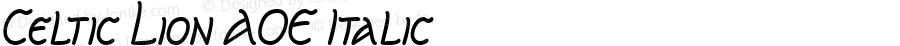 Celtic Lion AOE Italic Macromedia Fontographer 4.1.2 1/8/01