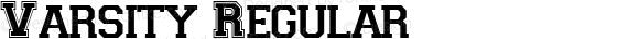 Varsity Regular Macromedia Fontographer 4.1 5/28/96