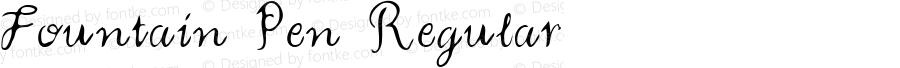 Fountain Pen Regular Macromedia Fontographer 4.1 5/23/96