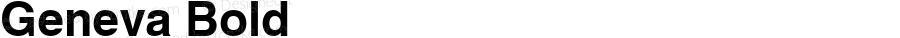 Geneva Bold Font Version 2.6; Converter Version 1.10