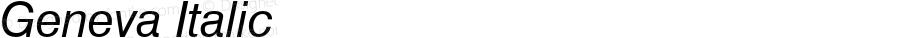 Geneva Italic Font Version 2.6; Converter Version 1.10