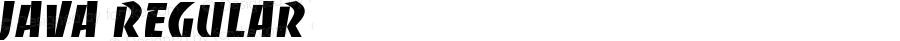 Java Regular Font Version 2.6; Converter Version 1.10