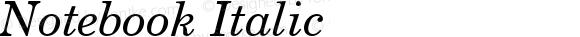 Notebook Italic