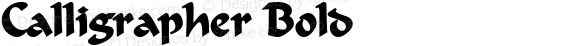 Calligrapher Bold Altsys Fontographer 4.1 5/24/96