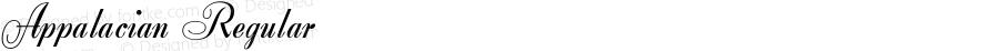 Appalacian Regular Altsys Fontographer 4.0.3 2/8/94