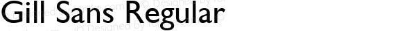 Gill Sans Regular Version 1.3 (Hewlett-Packard)