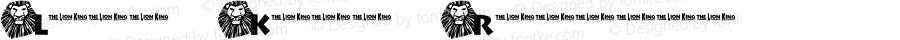 Lion King Regular Macromedia Fontographer 4.1 2/25/01