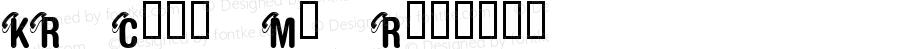 KR Call Me Regular Macromedia Fontographer 4.1 03/08/2001