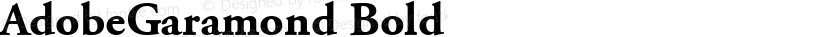 AdobeGaramond Bold Preview Image