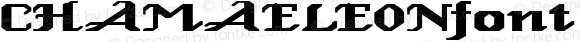 CHAMAELEONfont Regular Altsys Fontographer 3.5  3/28/01