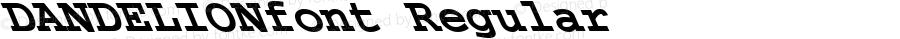 DANDELIONfont Regular Altsys Fontographer 3.5  3/28/01