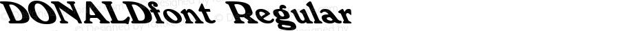 DONALDfont Regular Altsys Fontographer 3.5  3/28/01