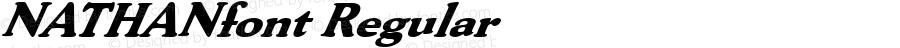 NATHANfont Regular Altsys Fontographer 3.5  3/28/01