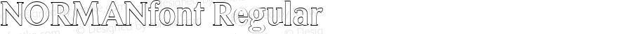 NORMANfont Regular Altsys Fontographer 3.5  3/28/01