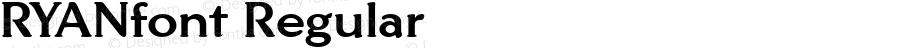 RYANfont Regular Altsys Fontographer 3.5  3/28/01
