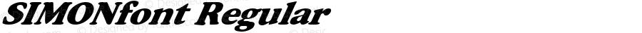 SIMONfont Regular Altsys Fontographer 3.5  3/28/01