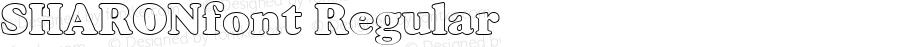 SHARONfont Regular Altsys Fontographer 3.5  3/28/01