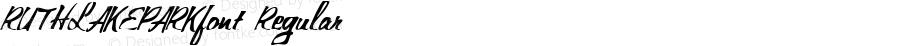 RUTHLAKEPARKfont Regular Altsys Fontographer 3.5  3/29/01