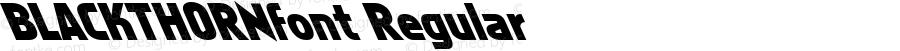 BLACKTHORNfont Regular Altsys Fontographer 3.5  3/29/01