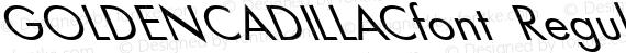 GOLDENCADILLACfont Regular preview image
