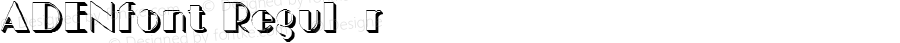 ADENfont Regular Altsys Fontographer 3.5  3/30/01