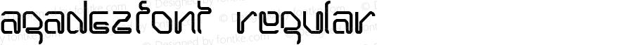 AGADEZfont Regular Altsys Fontographer 3.5  3/30/01