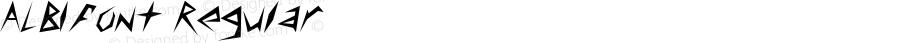 ALBIfont Regular Altsys Fontographer 3.5  3/30/01