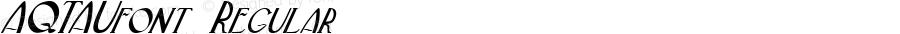 AQTAUfont Regular Altsys Fontographer 3.5  3/30/01