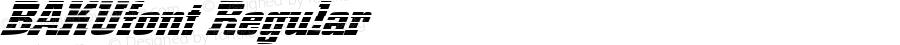 BAKUfont Regular Altsys Fontographer 3.5  3/30/01