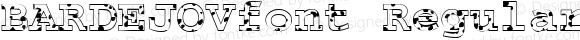 BARDEJOVfont Regular Altsys Fontographer 3.5  3/30/01