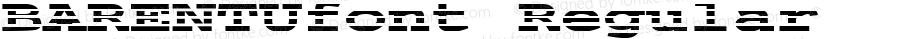 BARENTUfont Regular Altsys Fontographer 3.5  3/30/01