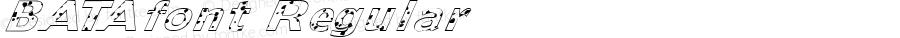 BATAfont Regular Altsys Fontographer 3.5  3/30/01