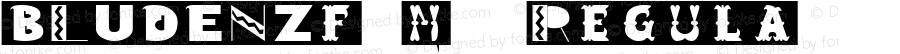 BLUDENZfont Regular Altsys Fontographer 3.5  3/30/01
