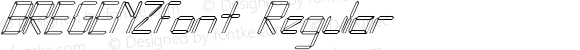 BREGENZfont Regular Altsys Fontographer 3.5  3/30/01