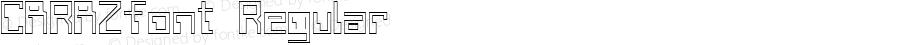 CARAZfont Regular Altsys Fontographer 3.5  3/30/01
