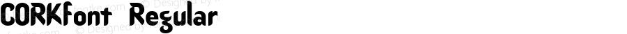 CORKfont Regular Altsys Fontographer 3.5  4/3/01