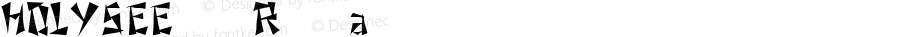 HOLYSEEfont Regular Altsys Fontographer 3.5  4/3/01