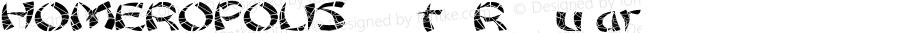 HOMEROPOLISfont Regular Altsys Fontographer 3.5  4/3/01