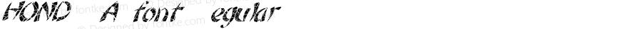 HONDURASfont Regular Altsys Fontographer 3.5  4/3/01