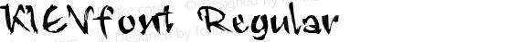 KIEVfont Regular Altsys Fontographer 3.5  4/3/01