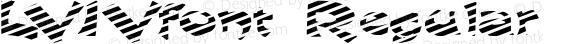 LVIVfont Regular Altsys Fontographer 3.5  4/3/01