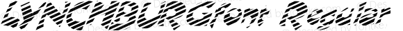 LYNCHBURGfont Regular Altsys Fontographer 3.5  4/3/01