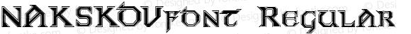 NAKSKOVfont Regular Altsys Fontographer 3.5  4/4/01