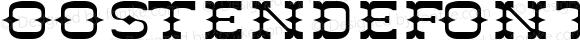 OOSTENDEfont Regular Altsys Fontographer 3.5  4/4/01