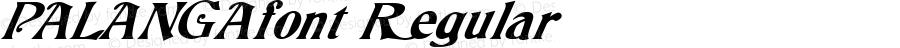 PALANGAfont Regular Altsys Fontographer 3.5  4/4/01