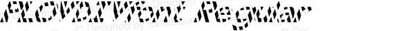 PLOVDIVfont Regular Altsys Fontographer 3.5  4/4/01