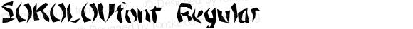 SOKOLOVfont Regular Altsys Fontographer 3.5  4/4/01