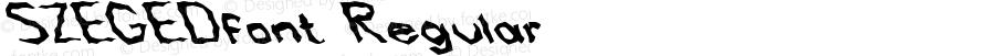SZEGEDfont Regular Altsys Fontographer 3.5  4/4/01